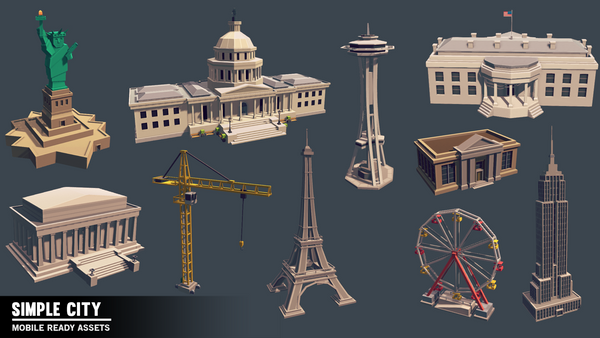 Simple City - Cartoon Assets