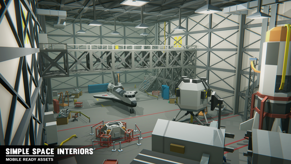 Simple Space Interiors - Cartoon Assets - Synty Studios - Unity and Unreal 3D low poly assets for game development