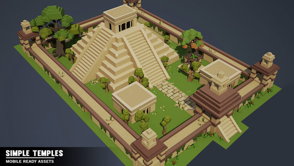 Simple Temples - Cartoon Assets