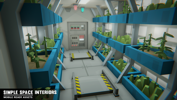 Simple Space Interiors - Cartoon Assets