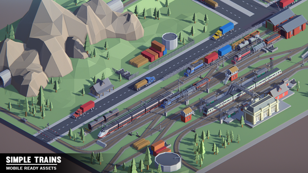 Simple Trains - Cartoon Assets - synty-store