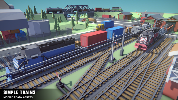 Simple Trains - Cartoon Assets