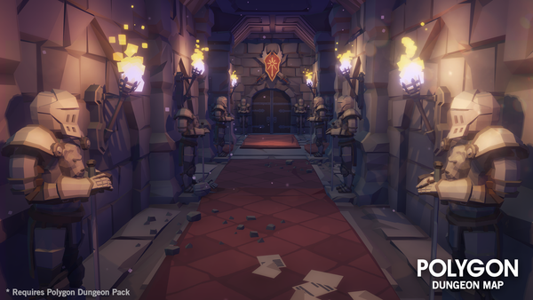 POLYGON - Dungeons Map - Synty Studios - Unity and Unreal 3D low poly assets for game development