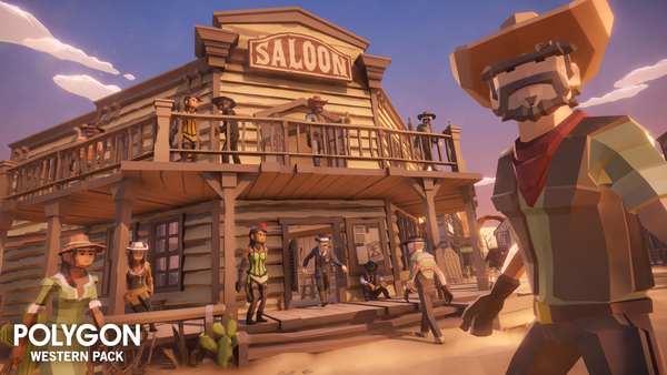 POLYGON - Western Pack - Synty Studios - Unity and Unreal 3D low poly assets for game development