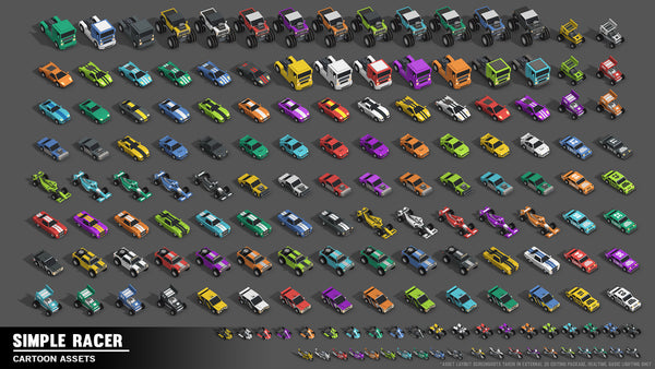 Simple Racer - Cartoon Assets - synty-store