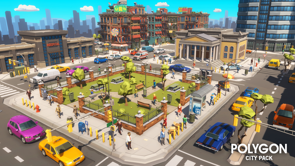 POLYGON - City Pack - Synty Studios - Unity and Unreal 3D low poly assets for game development