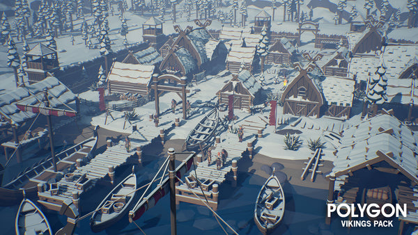 POLYGON - Vikings Pack - Synty Studios - Unity and Unreal 3D low poly assets for game development