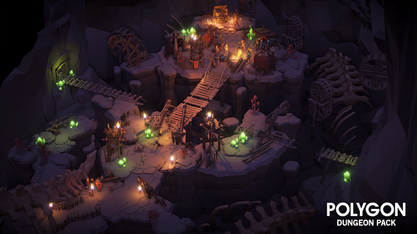 POLYGON - Dungeon Pack - Synty Studios - Unity and Unreal 3D low poly assets for game development