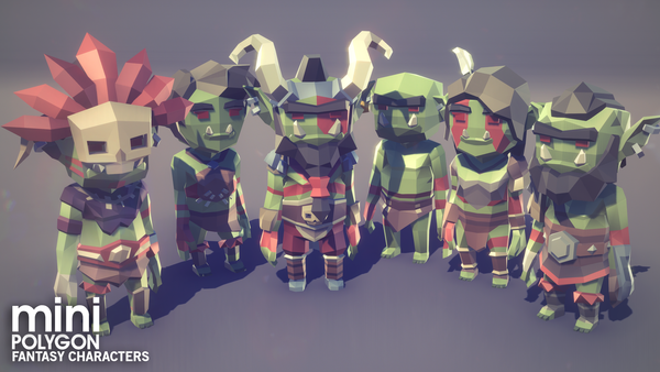 POLYGON MINI - Fantasy Characters Pack - Synty Studios - Unity and Unreal 3D low poly assets for game development