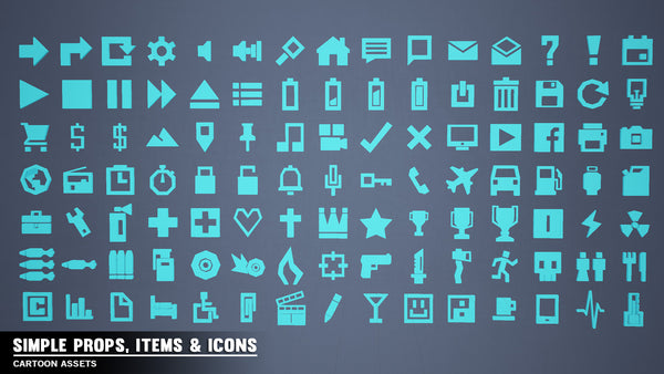 Simple Props/Items/Icons - Cartoon Assets