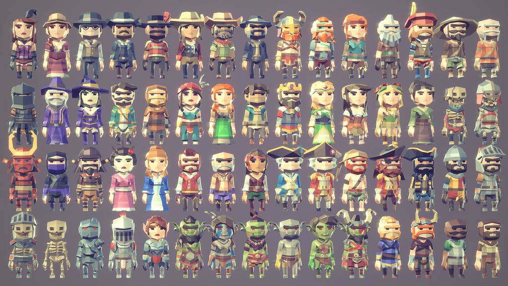 POLYGON MINI - Fantasy Characters Pack