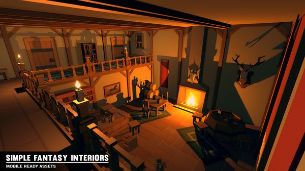 Simple Fantasy Interiors - Cartoon Assets - Synty Studios - Unity and Unreal 3D low poly assets for game development