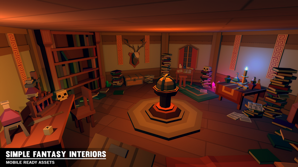 Simple Fantasy Interiors - Cartoon Assets