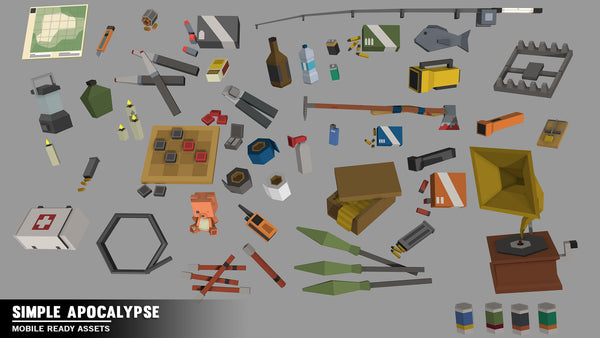 Simple Apocalypse - Cartoon Assets - Synty Studios - Unity and Unreal 3D low poly assets for game development