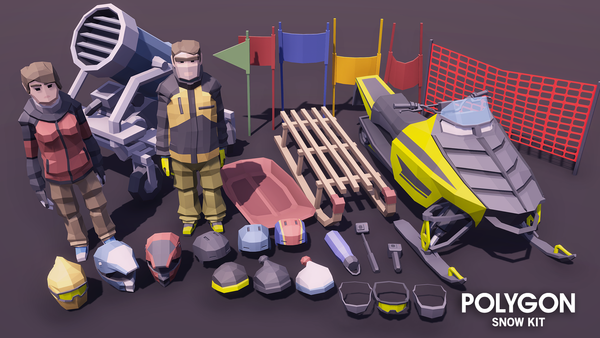 POLYGON - Snow Kit - synty-store