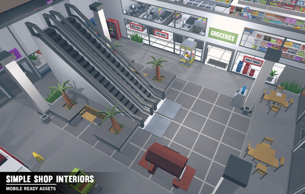 Simple Shop Interiors - Cartoon assets - Synty Studios - Unity and Unreal 3D low poly assets for game development