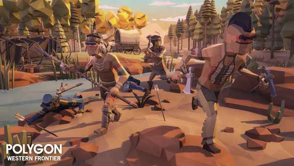POLYGON - Western Frontier Pack - Synty Studios - Unity and Unreal 3D low poly assets for game development