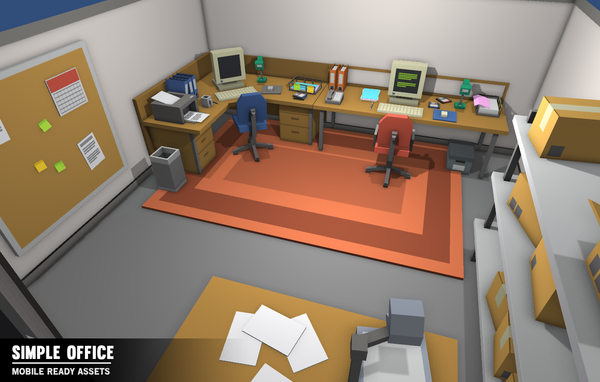 Simple Office - Cartoon Assets - Synty Studios - Unity and Unreal 3D low poly assets for game development