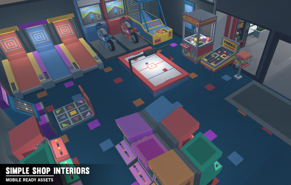Simple Shop Interiors - Cartoon assets