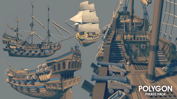 POLYGON - Pirate Pack - synty-store
