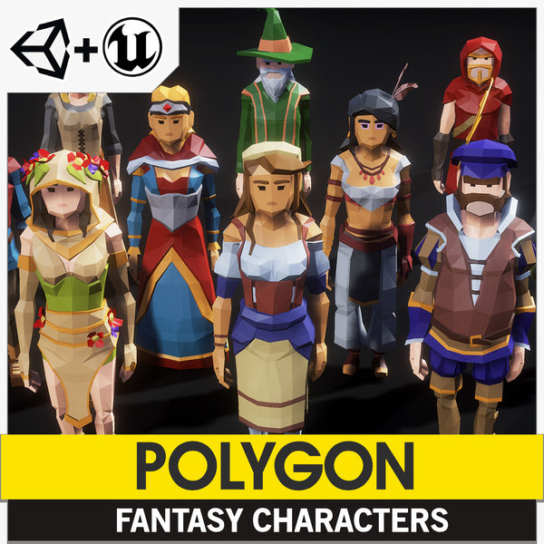 POLYGON - Fantasy Characters Pack - Synty Studios - Unity and Unreal 3D low poly assets for game development