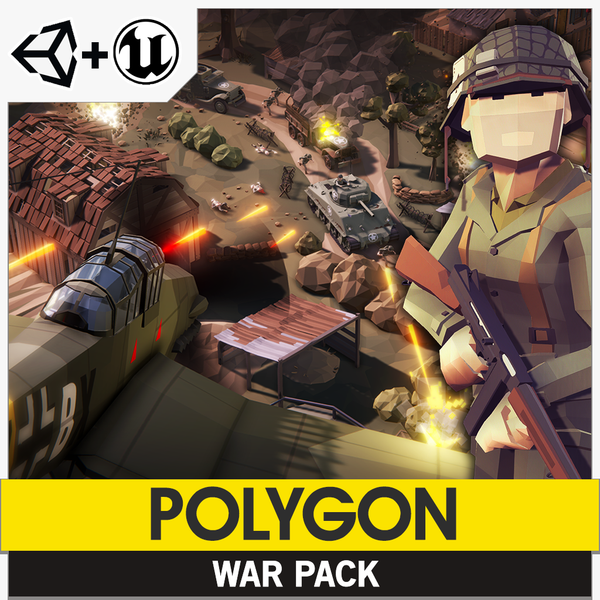 POLYGON - War Pack - Synty Studios - Unity and Unreal 3D low poly assets for game development