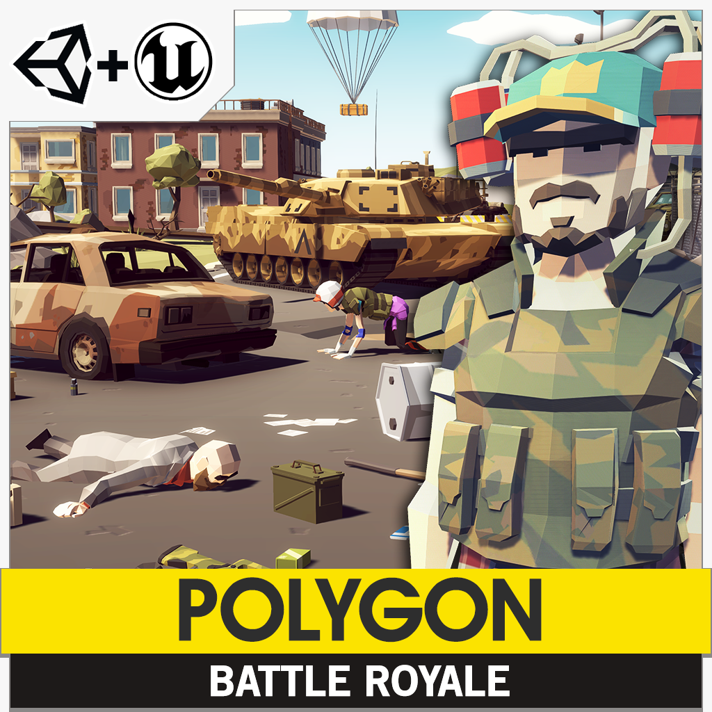 POLYGON - Battle Royale Pack - Synty Studios - Unity and Unreal 3D low poly assets for game development