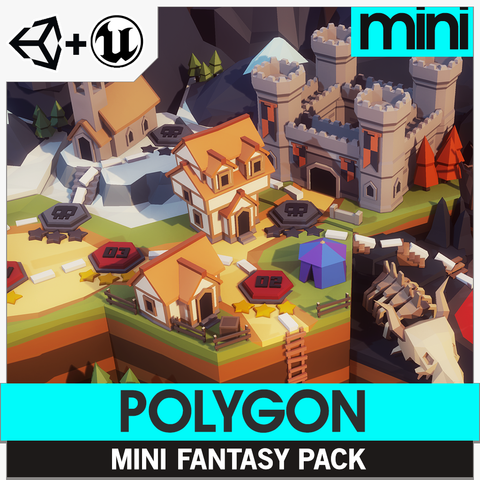 POLYGON MINI - Fantasy Pack - Synty Studios - Unity and Unreal 3D low poly assets for game development