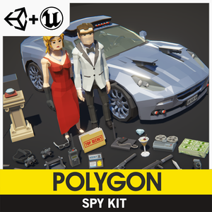 POLYGON - Spy Kit - Synty Studios - Unity and Unreal 3D low poly assets for game development