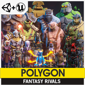 POLYGON - Fantasy Rivals Pack - Synty Studios - Unity and Unreal 3D low poly assets for game development