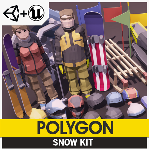 POLYGON - Snow Kit - Synty Studios - Unity and Unreal 3D low poly assets for game development