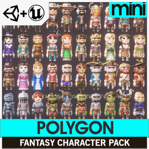 POLYGON MINI - Fantasy Characters Pack - synty-store
