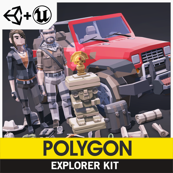 POLYGON - Explorer Kit - Synty Studios - Unity and Unreal 3D low poly assets for game development