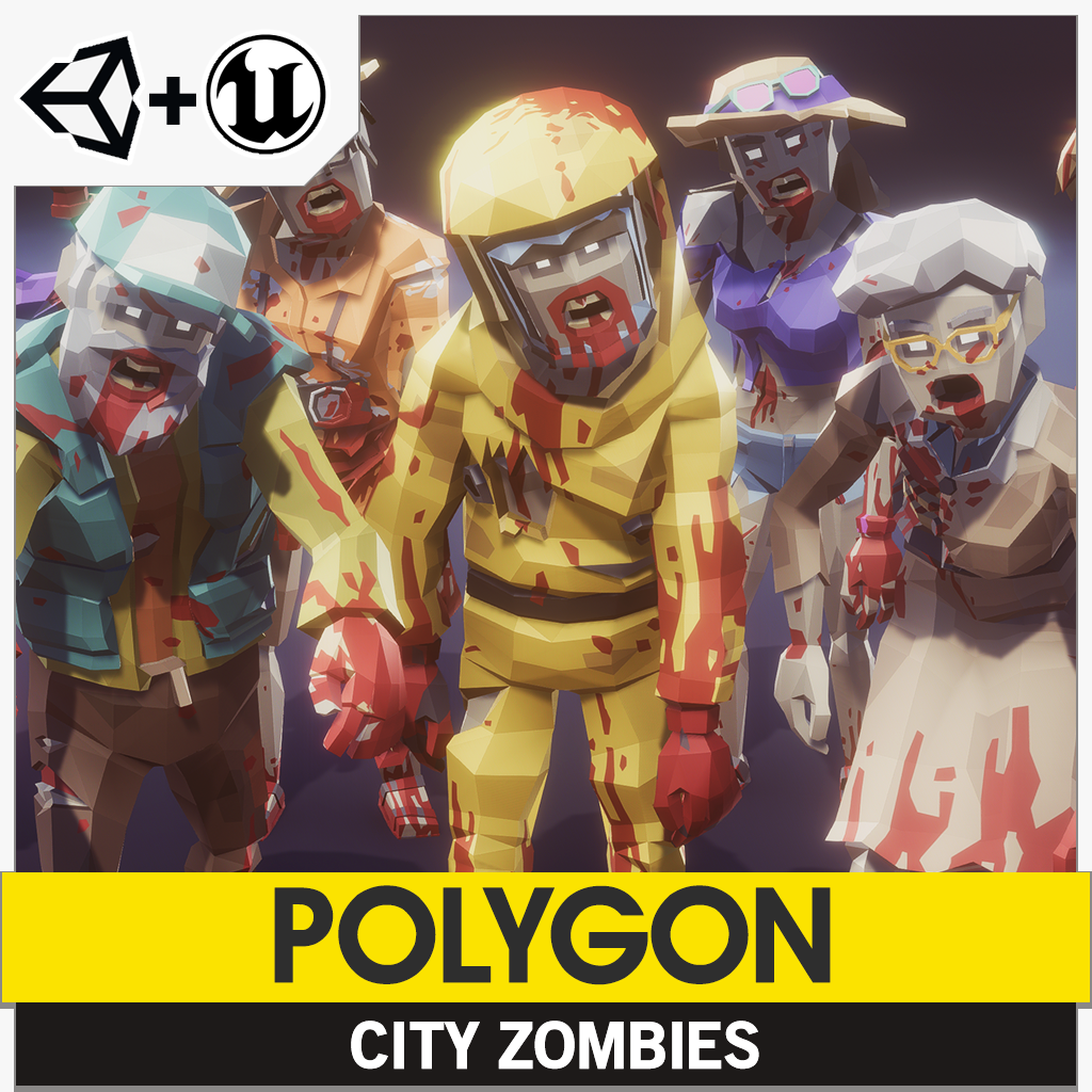 Polygon City Zombies Pack Synty Store