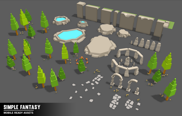 Simple Fantasy - Cartoon Assets - Synty Studios - Unity and Unreal 3D low poly assets for game development