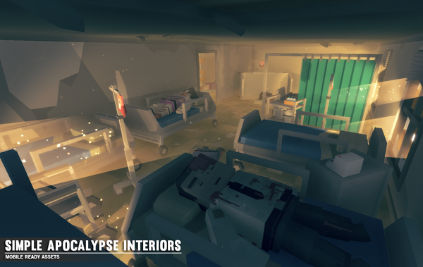 Simple Apocalypse Interiors - Cartoon Assets - Synty Studios - Unity and Unreal 3D low poly assets for game development