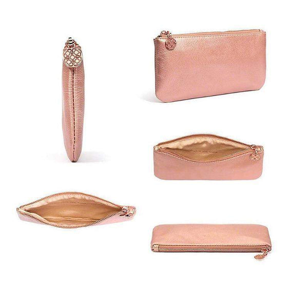 Eye Essential Rose Gold Brush Set with Pouch- 12 piece - AQUALUZZA