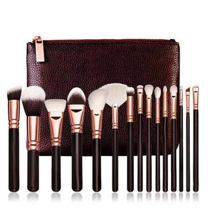 Makeup Artist Luxury Brush Tool kit - 15 piece - AQUALUZZA