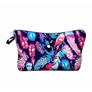 Makeup bag  Feather Prints - AQUALUZZA