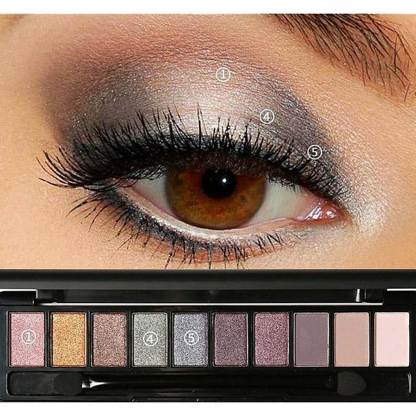 NAKED EYESHADOW PALETTE X 10 BERRY MAUVE - AQUALUZZA