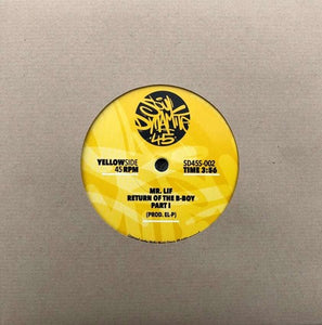 Mr. Lif: Return of the B-Boy Part 1 & Part 2 (7-Inch Single)