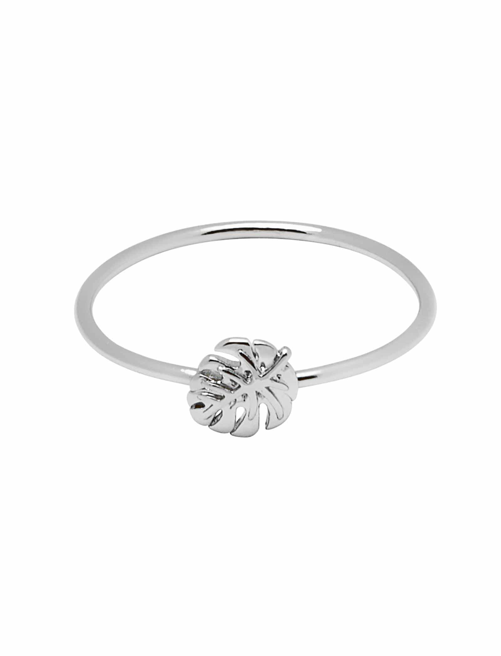 Tropical Palm Silver Ring