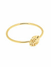 Tropical Palm Yellow Gold Ring