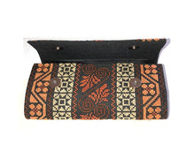 Load image into Gallery viewer, Multiple Brown Patterns Cross Stitched Purse Wallet Size