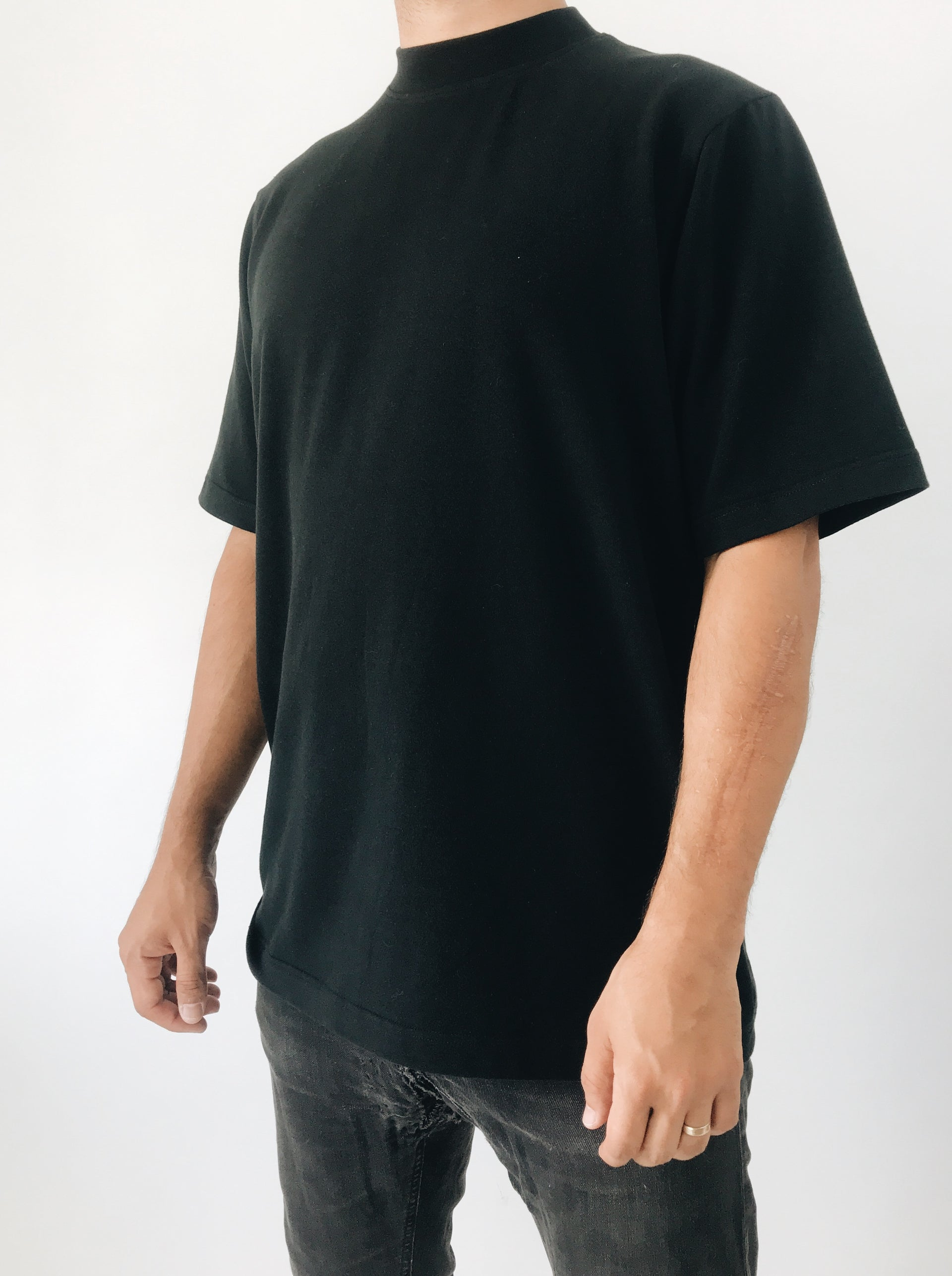 black tee shirt made with organic cotton portland oregon