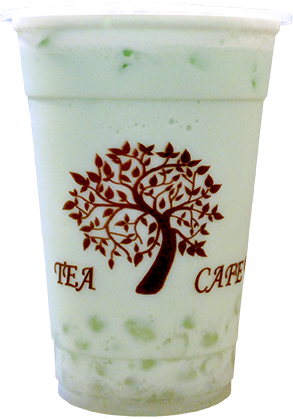 Tea Tree Cafe Peppermint Milk Tea with White Pearls