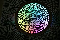 MultiDimensional Sacred Geometry Lasercut Led Portal Light