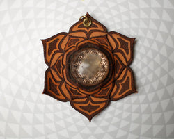 Sacred Geometry Orgone Lotus Mandala - Flower of life Pendant -  Healing Emf Protection-  Crystal Energy  Jewelry - handmade