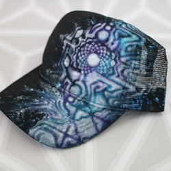 Crown Chakra Original VisionaryArt Hat -Painted Hat- -StreetArt- -StencilArt-