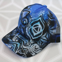 Abstract Art Hat  -Painted Hat- -StreetArt- -StencilArt- -Graffiti-